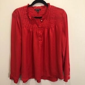 J. Crew Mercantile Red Blouse Size 12